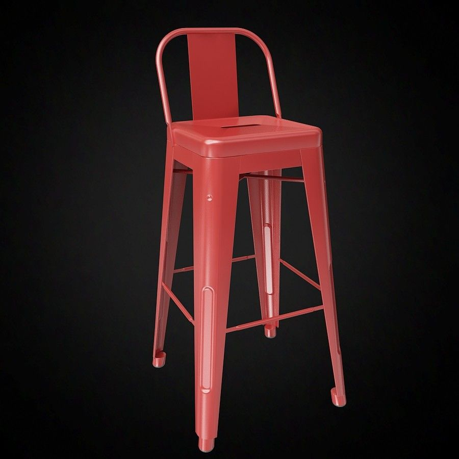 Prime Tolix Wide Back Bar Stool 3D Model 3D Furniture Model Camellatalisay Diy Chair Ideas Camellatalisaycom