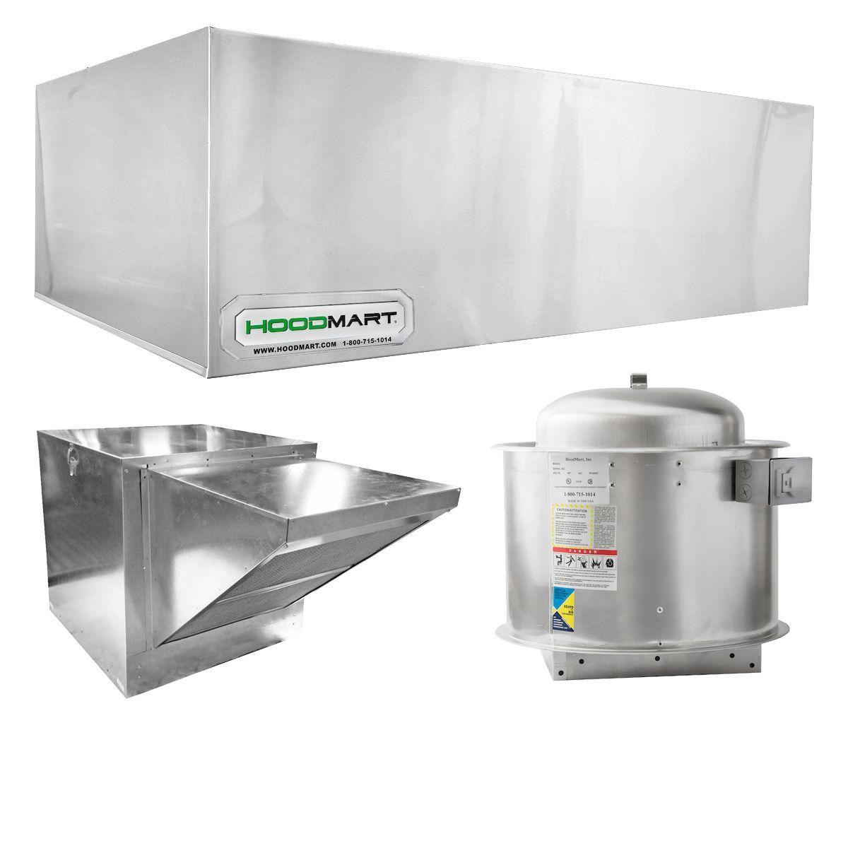 Restaurant Hood System W Makeup Air 12 X48 Commercial Kitchen Kitchen Ventilation Kitchen Exhaust