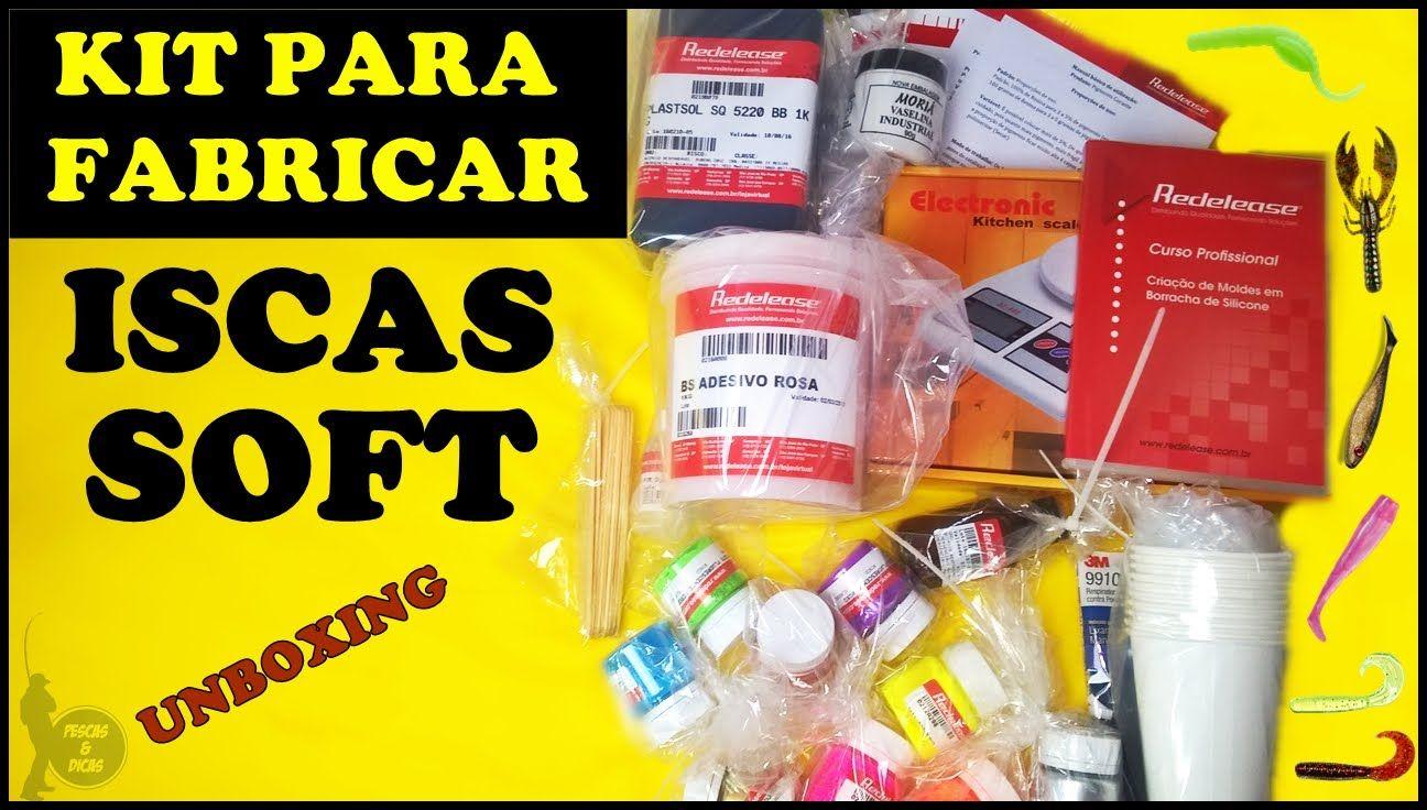 Unboxing - Kit Para Fabricar Iscas Artificiais Soft [Pescas e Dicas]