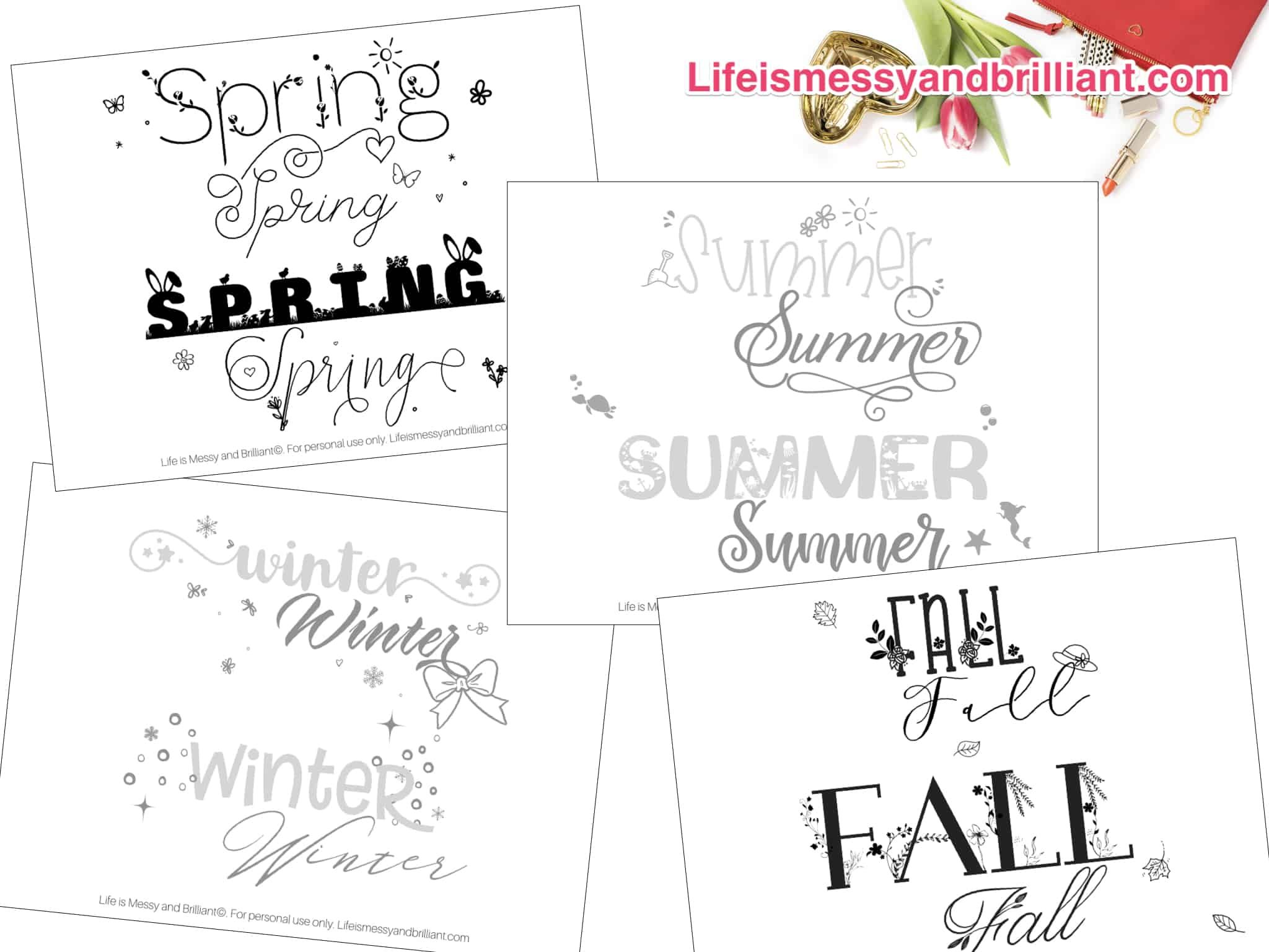 Free Seasons Of The Year Hand Lettering Practice Worksheets Hand Lettering Practice Hand Lettering Worksheet Hand Lettering Practice Sheets [ 1536 x 2048 Pixel ]