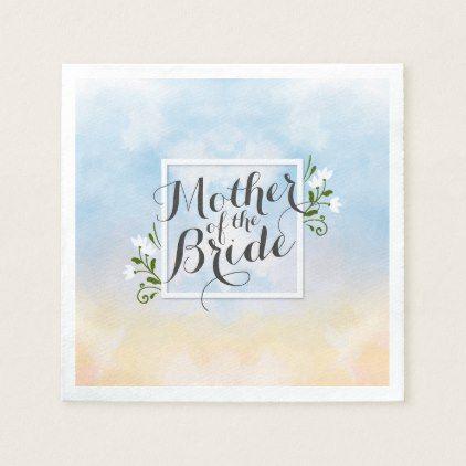 Mother of the Bride Elegant Frame Wedding Napkin - floral gifts ...