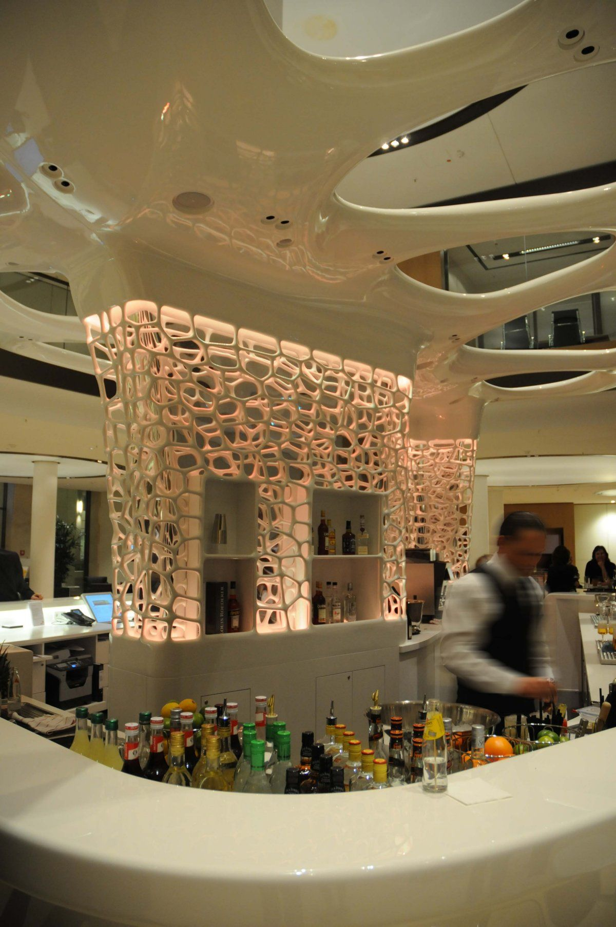 Design By Joi Design Pwc Cafe Bar Desk Futuristic Design