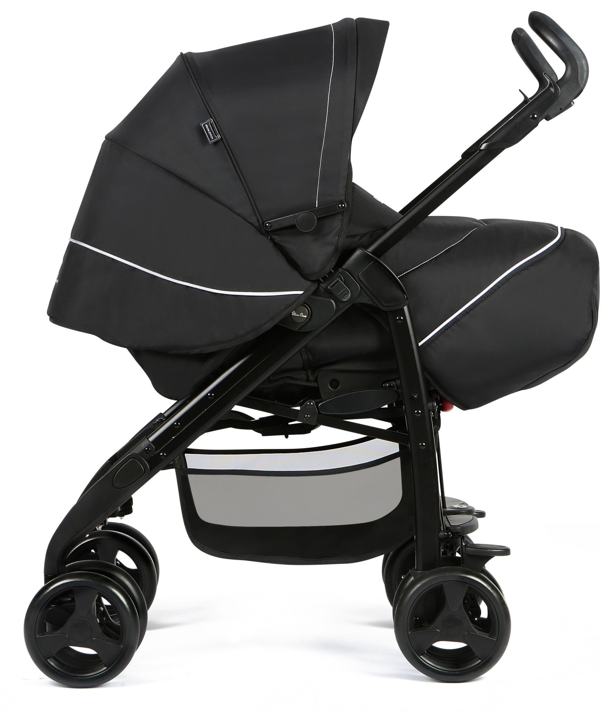 Silver Cross 3D Pram and Pushchair Travel System Monochrome Package Exclusive to Mothercare