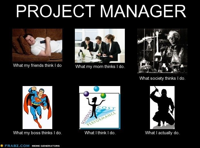 Project manager what my friends think i do random for Do my project