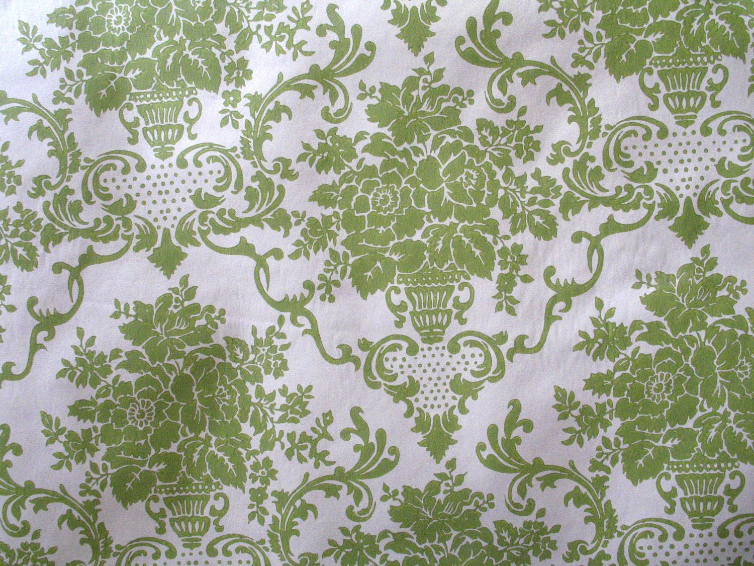 Shelf Contact Paper Vintage Green And White Damask Pattern Wallpaper 525 Via Etsy