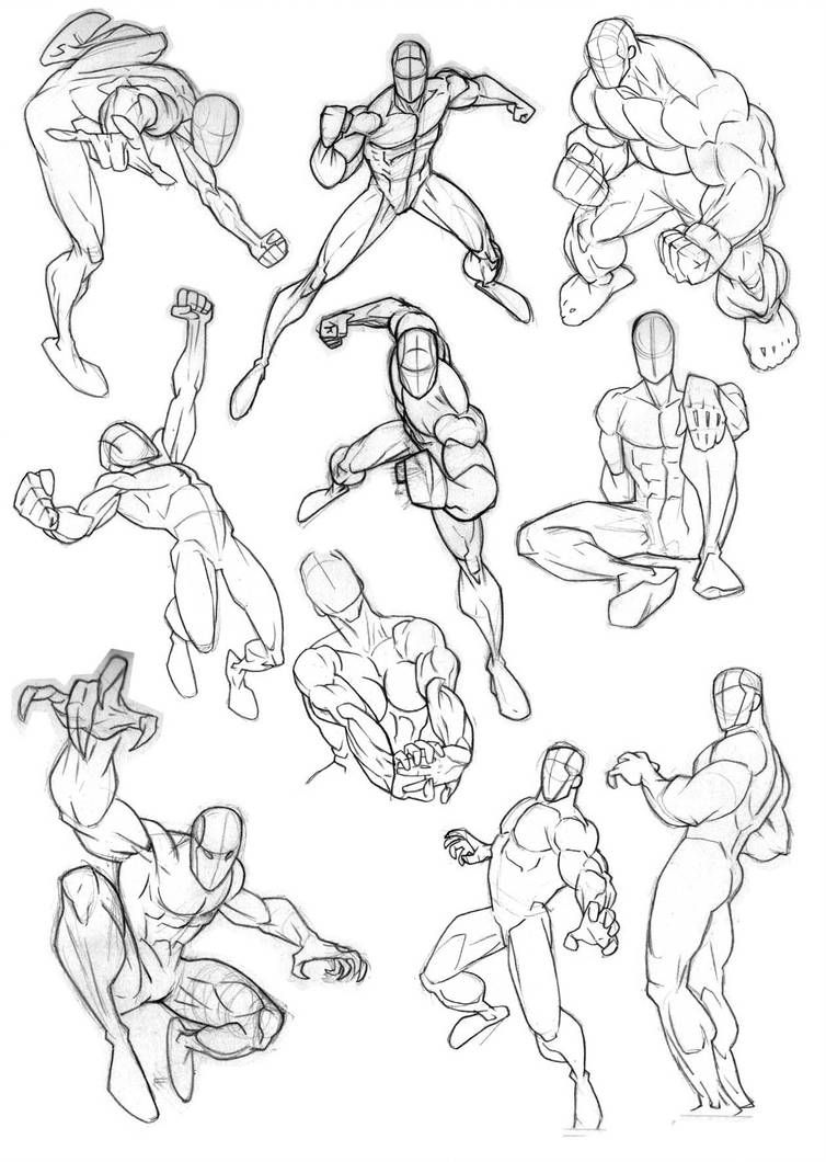 More Comic Anatomy by Bambs79 (With images) | Human figure ...