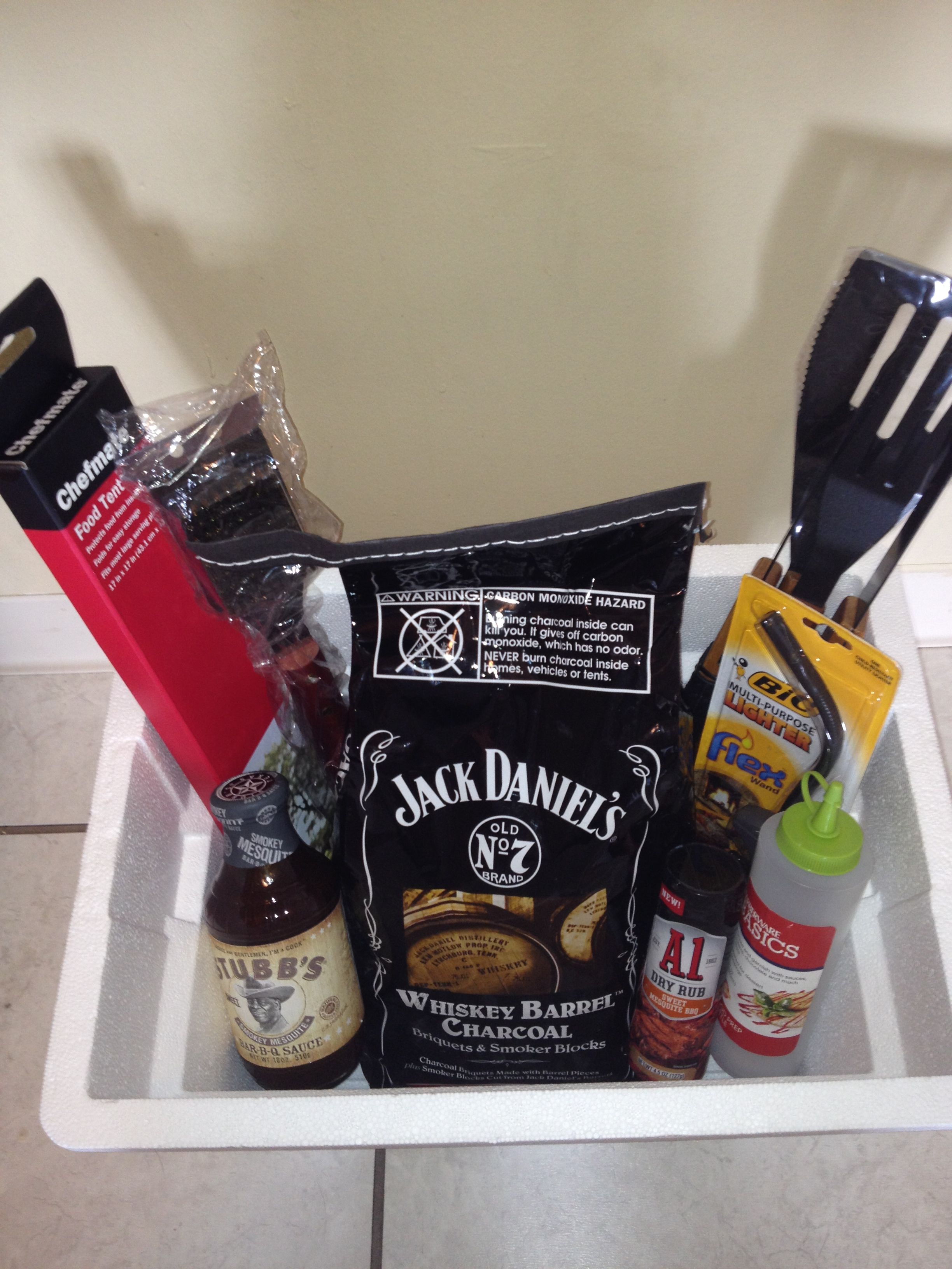 DIY Father's Day BBQ gift basket  (Or for any man, they all