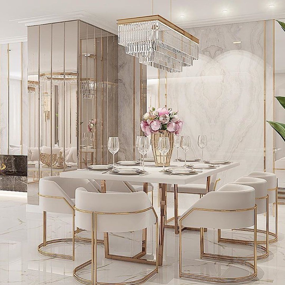 Decor Ideas Inspiration On Instagram How A Gorgeous Is This Dinning Room Follo Dining Room Decor Modern Dining Room Table Decor Modern Dining Room Beautiful dining rooms houzz