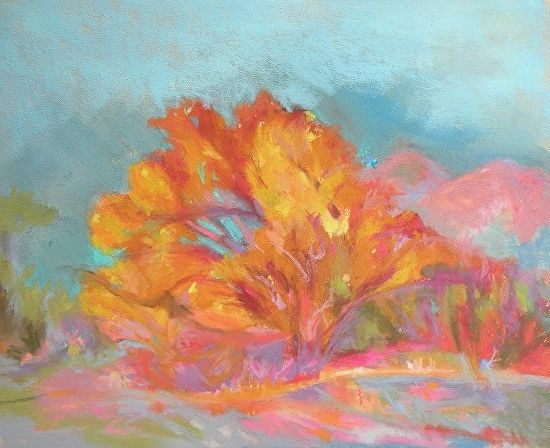 Open- handed Giving by Meg Leonard Pastel ~ 9 x 12