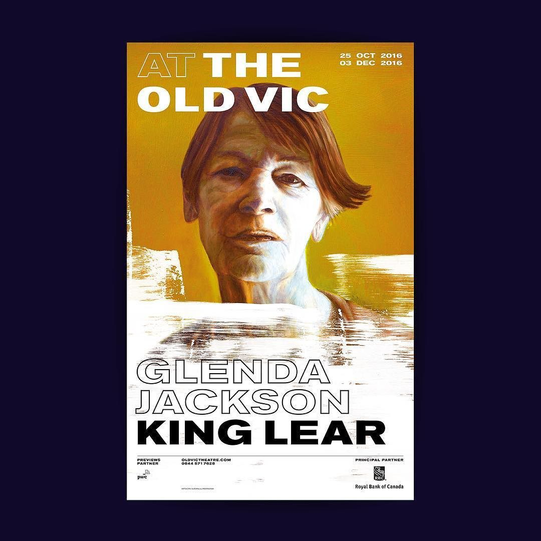 Folio Poster For King Lear At The Old Vic Glenda Jackson S Return