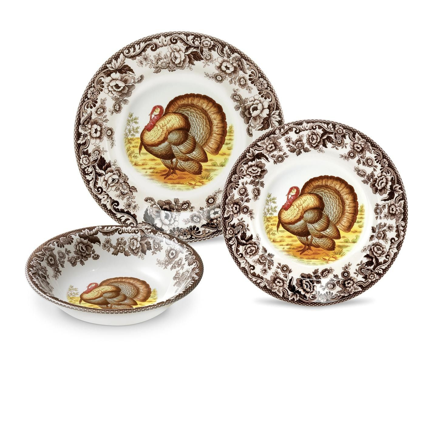 Spode Woodland Turkey plates and serving pieces are the perfect touch for your #Thanksgiving table  sc 1 st  Pinterest & Spode Woodland Turkey plates and serving pieces are the perfect ...