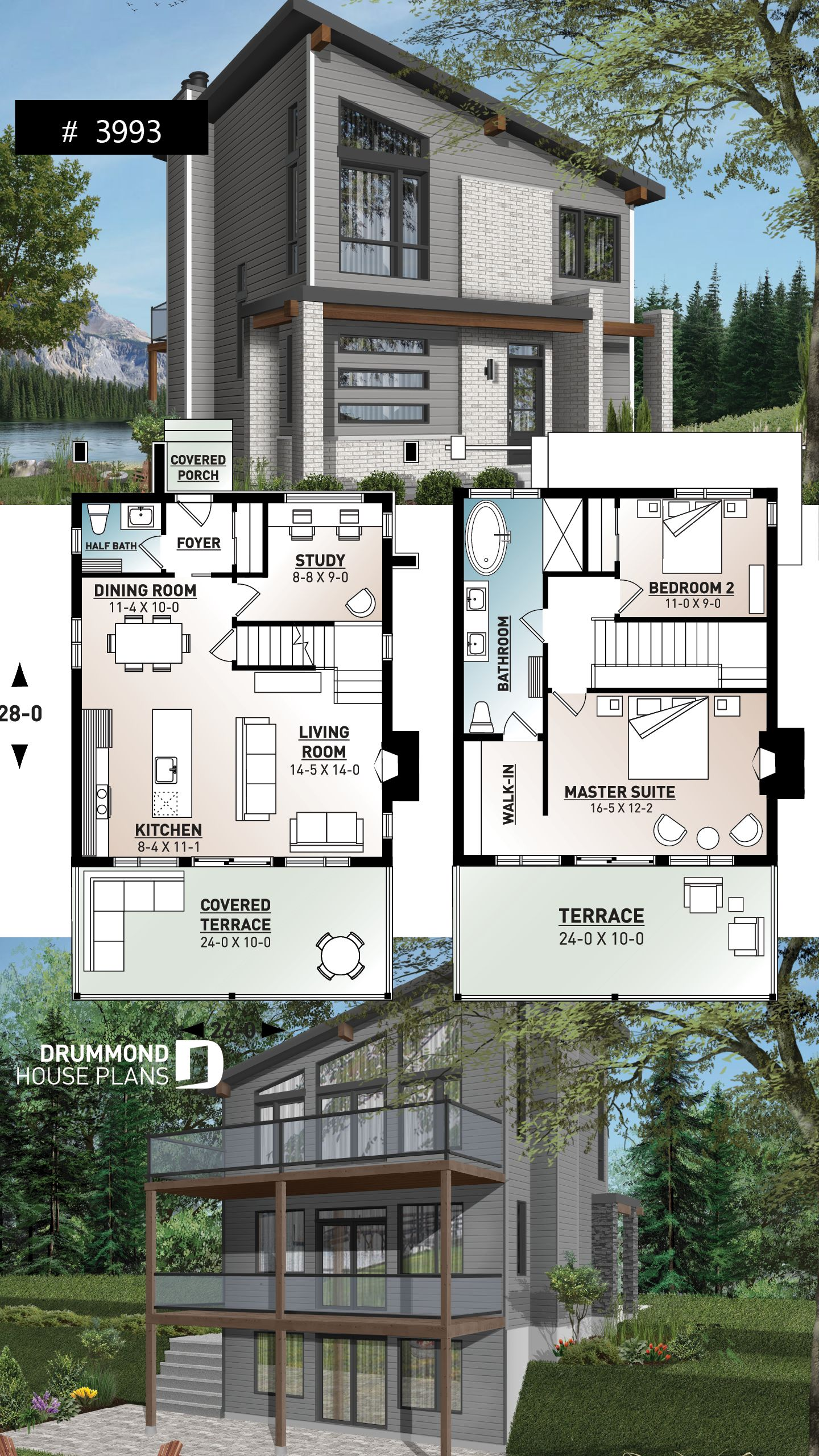 Discover The Plan 3993 Taylor Which Will Please You For Its 2 3 Bedrooms And For Its Cottage Chalet Cabin Styles House Construction Plan House Plans Beautiful Houses Pics