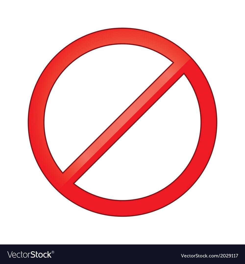 Sign Forbidden Circle Prohibited Vector Image On Vectorstock Circle Prohibition Vector Free