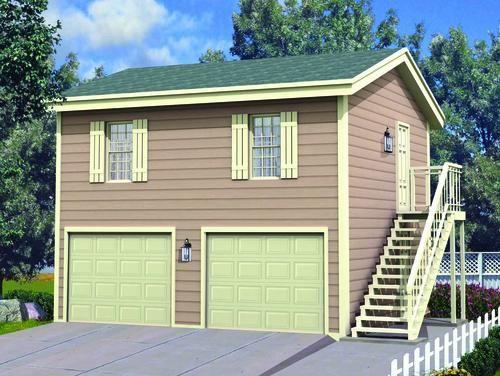 24 X 24 X 8 2 Car Apartment Garage At Menards 24 X 24 X 8 2 Car Apartment Garage Garage Apartments Garage House Plans Garage Apartment Plans