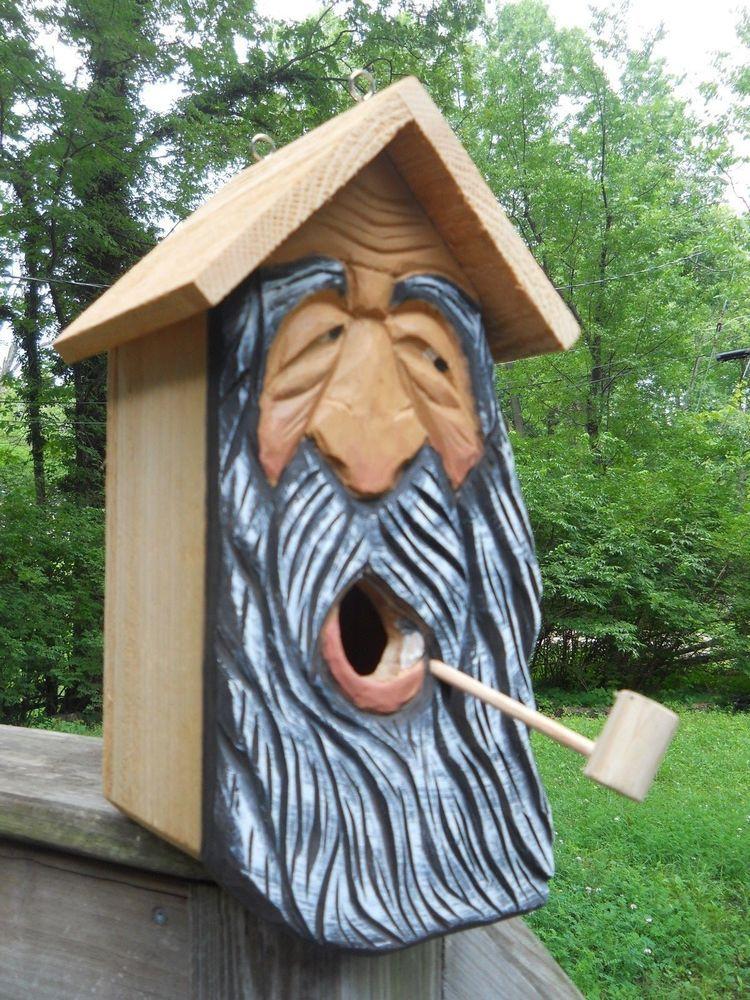Wood Carvings Wood Spirit Carvings Birdhouse 2 Nest Bird House Bird House Bird Houses Bird