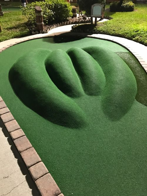 The first hole of the first hole in a mini golf course in Fort...
