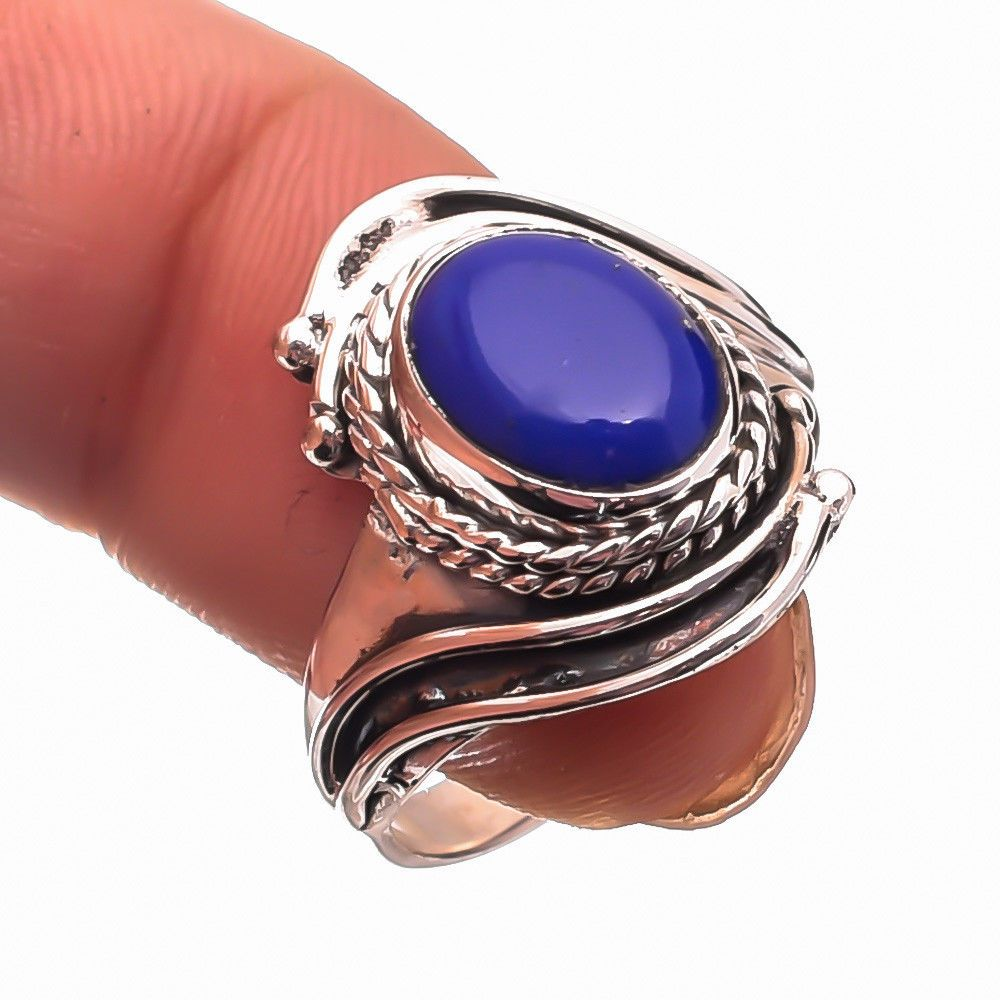 4005953ce Lapis Lazuli Gemstone Ethnic Jewelry 925 Sterling Silver Ring Size us 7.5  #Unbranded #Ring #MOTHERSDAY