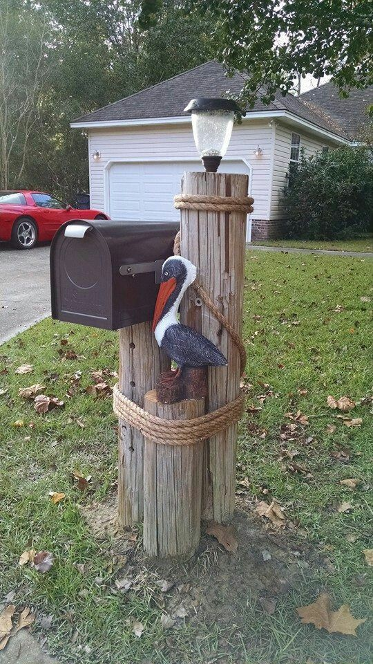 mailbox with pelican. in 2019