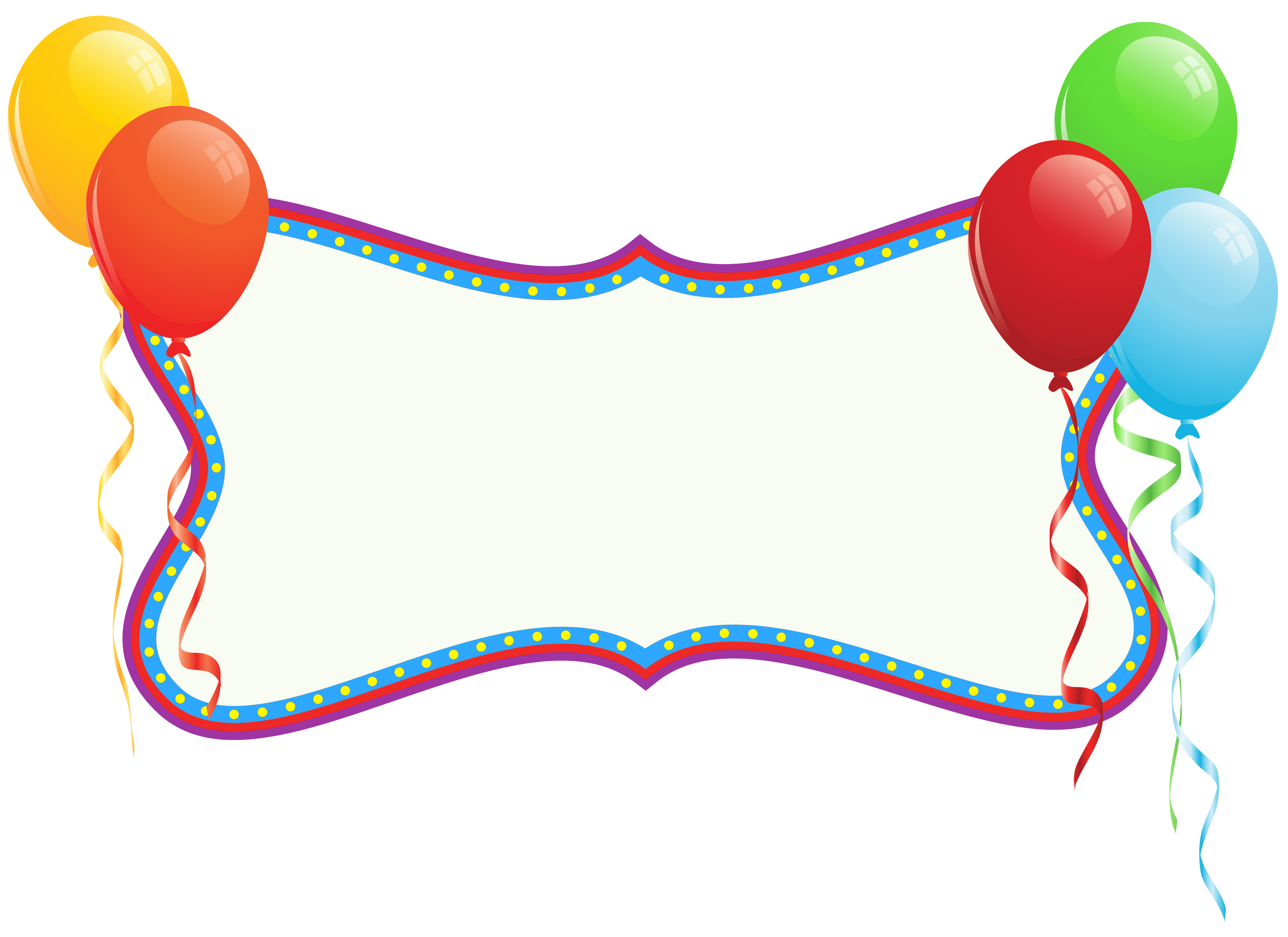 Birthday Holiday Banner With Balloons Png Clipart Personalized Birthday Banners Holiday Banner Birthday Clips