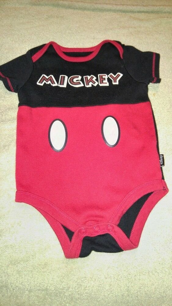 3aec7b42c Details about Disney Baby 0-3 Months Bodysuit Mickey Mouse Unisex ...