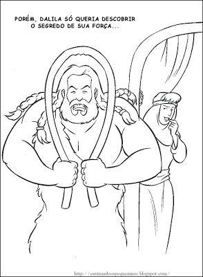 Sansao Historias Biblicas Sansao E Dalila Desenhos