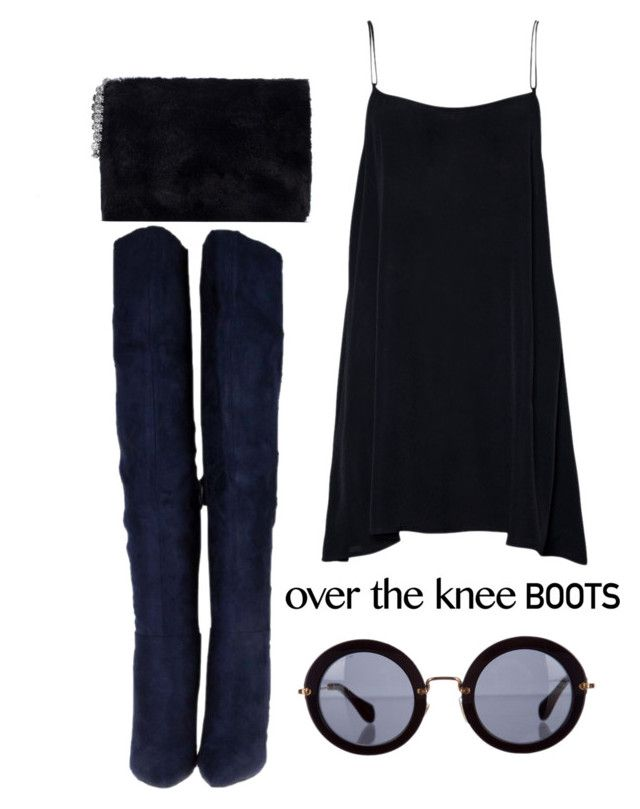 """""""Senza titolo #469"""" by g-io ❤ liked on Polyvore featuring Zara, Miu Miu and OverTheKneeBoots"""
