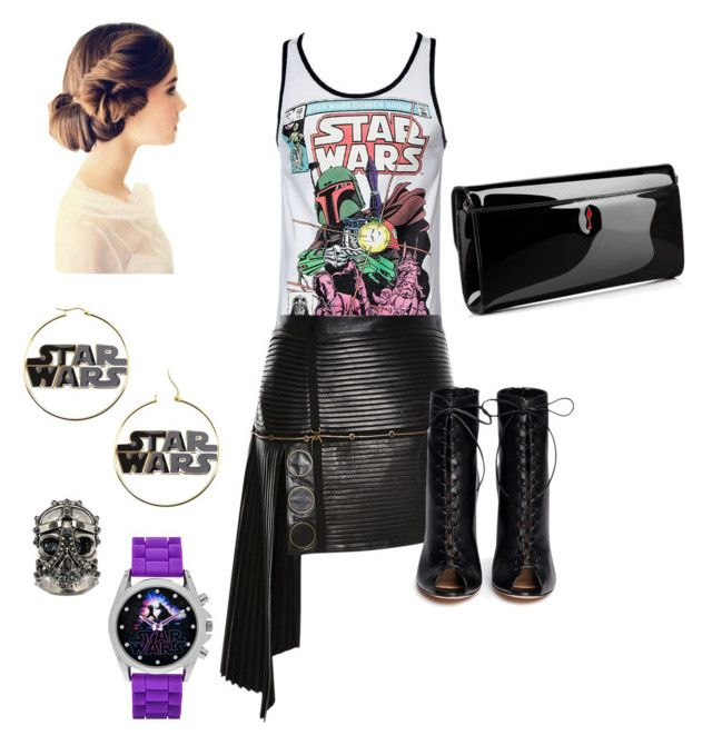 """""""In a galaxy far far away..."""" by mary-electra on Polyvore featuring Anthony Vaccarello, Gianvito Rossi, Alexander McQueen and Christian Louboutin"""