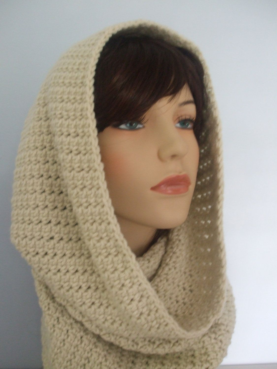 cowl neck scarves crochet | All In One Crochet Cowl Neck Hood and ...