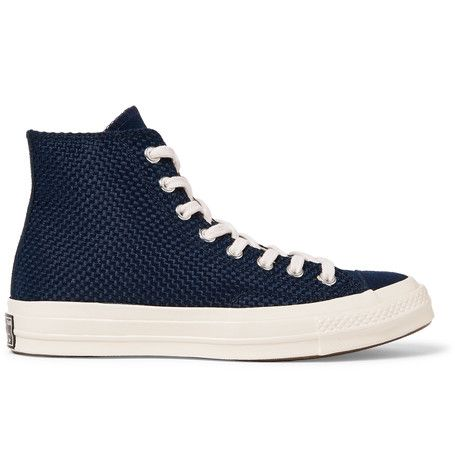 55a5bb751880 CONVERSE 1970S Chuck Taylor All Star Suede-Trimmed Woven High-Top Sneakers.   converse  shoes  sneakers