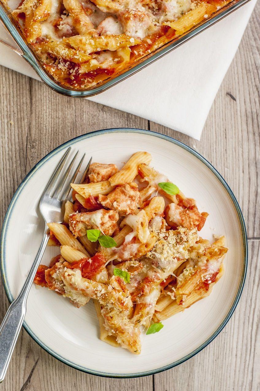 Skinny Chicken Parmesan Casserole #chickenparmesan