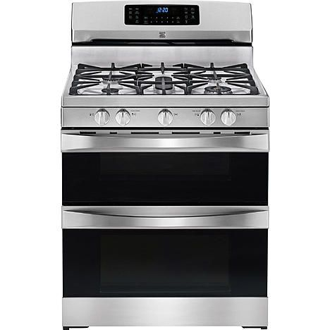 Kenmore Elite 75443 5 9 Cu Ft Double Oven Gas Range Stainless Steel