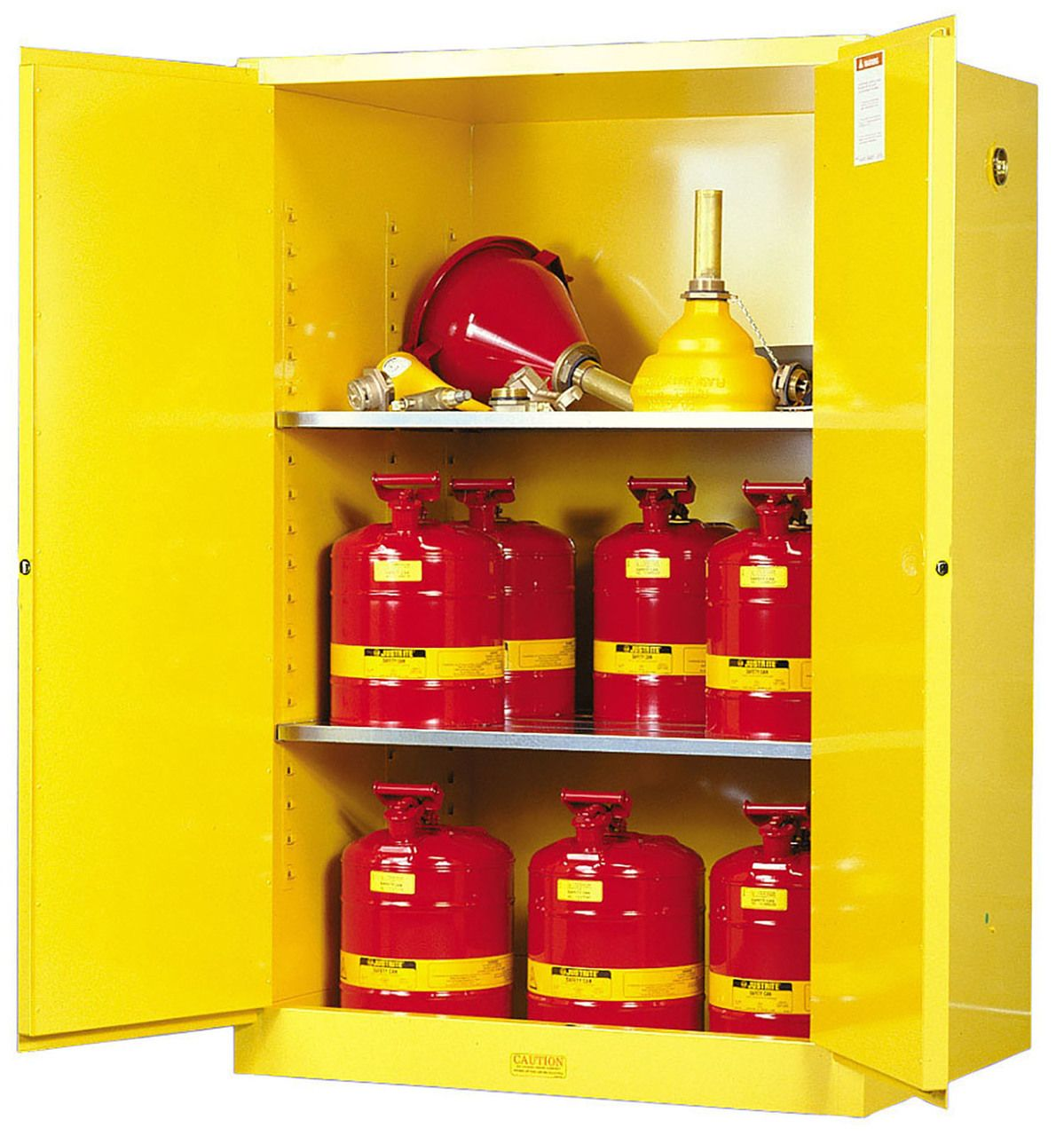 Justrite 90 gallon flammable safety storage