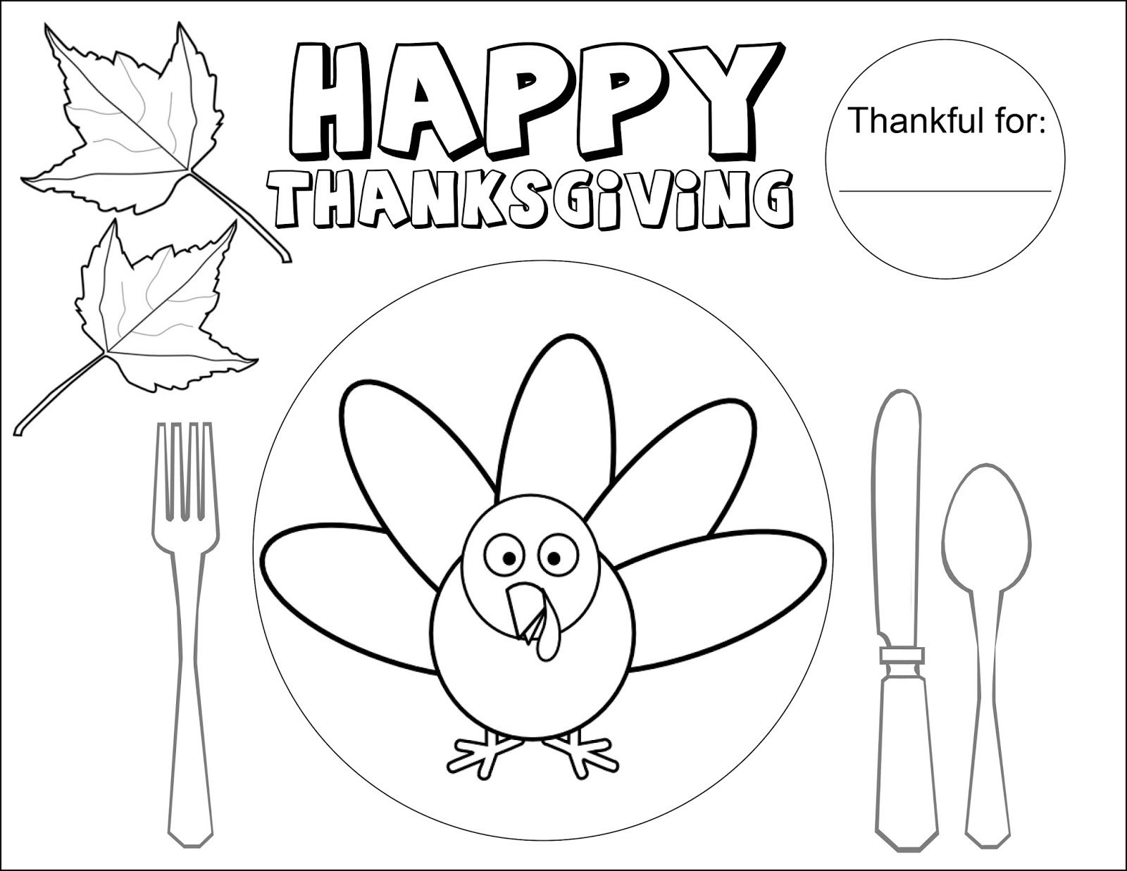 Image Result For Thanksgiving Day Coloring Placemats