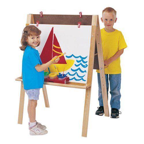 Jonti-Craft Double Adjustable Childrens Easel - 0218JC