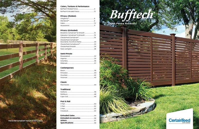 Bufftech Fences Brochure In 2020 Fence Fence Styles Backyard Privacy