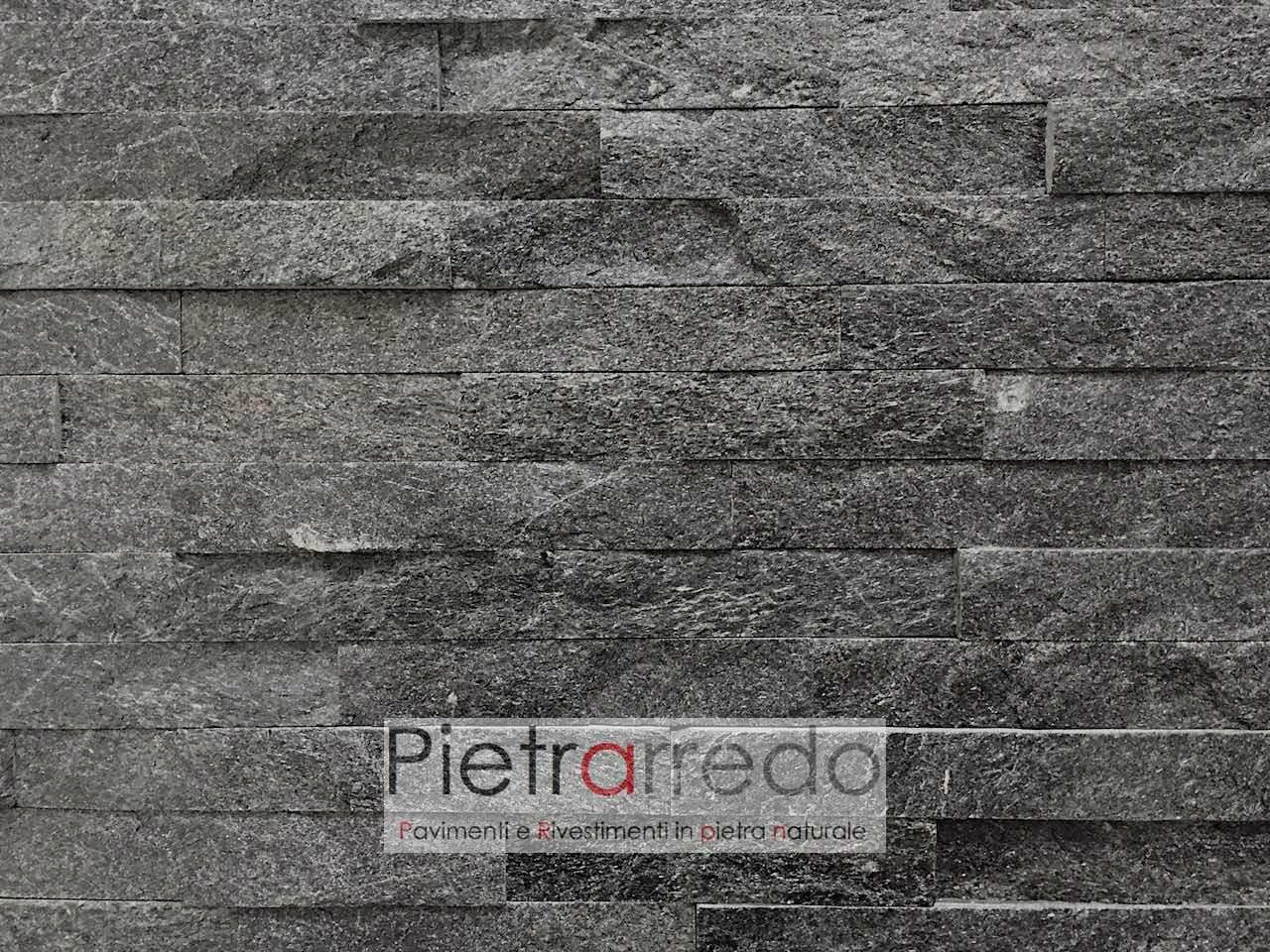 """Rivestimenti In Ardesia Nera rivestimento in pietra """" quarzite nera 15cm x 55cm"""" nel 2020"""