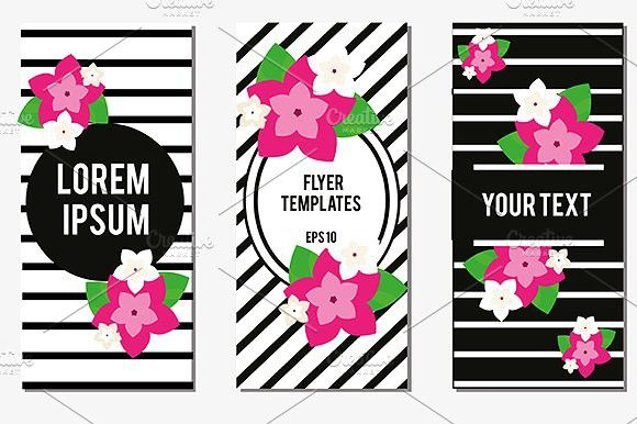 Flowers Flyer design templates. Flyer Templates