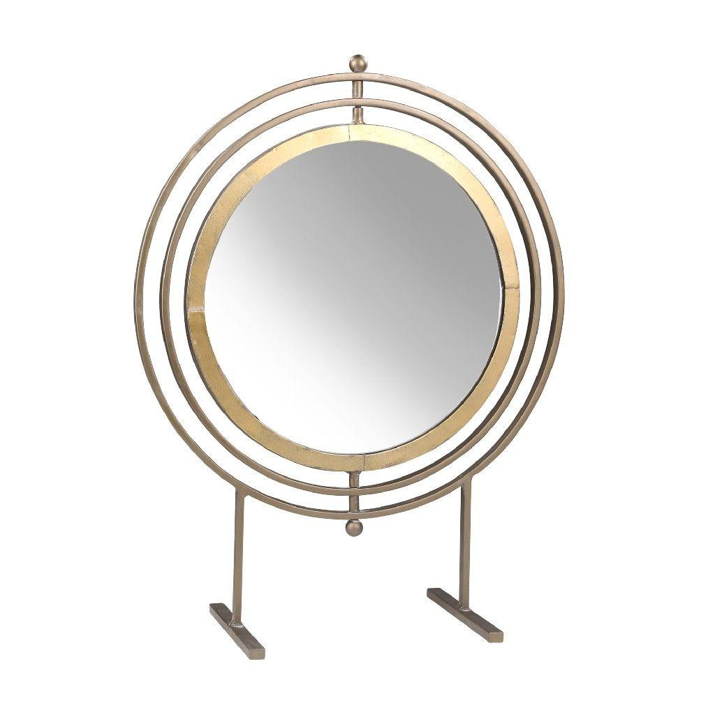 Metal 21 25 Table Top Mirror Gold Sagebrook Home 14398 01 In 2021 Round Metal Table Metal Table Metal Table Top Large table top mirror