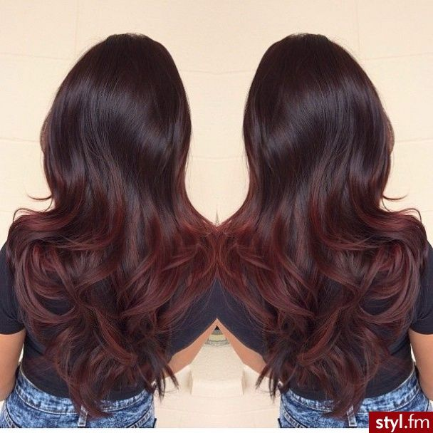 Black To Dark Red Ombre Subtle Im Doing This As Soon As