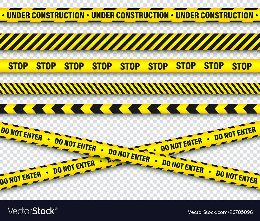 Yellow And Black Barricade Construction Tape Vector Image Sponsored Barricade Black Y Graphic Designer Portfolio Web Icon Vector Modern Graphic Design