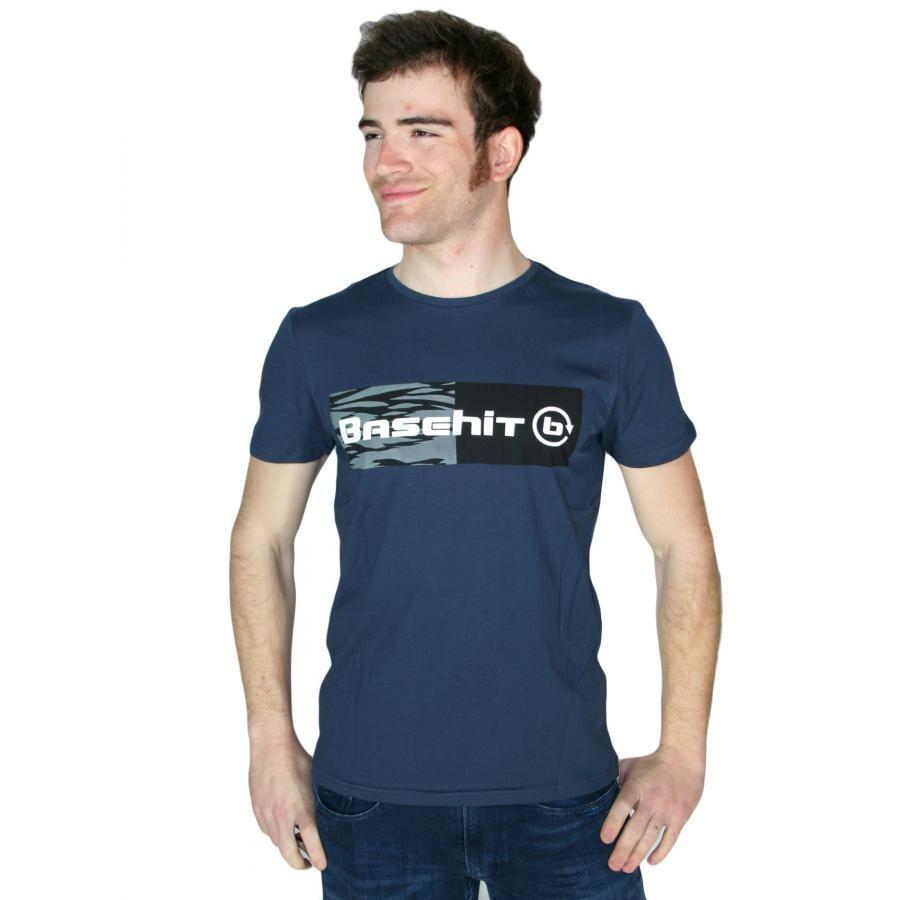 788f3e445dec BASEHIT Ανδρικό μπλέ κοντομάνικο T-Shirt μπλουζάκι