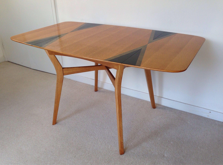 Vintage Mid Century G Plan Drop Leaf Oak Dining Table By - Mid century oak dining table