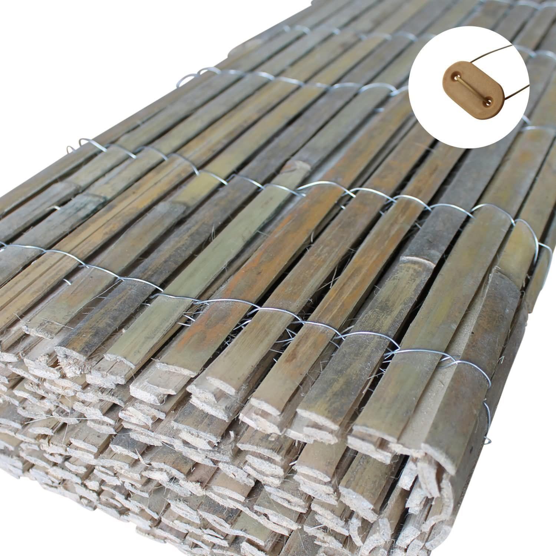 Bambusmatte Bambus Sichtschutz Zaun Windschutz Sichtschutzmatte