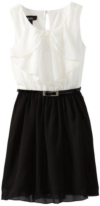 Dresses for girls black and white