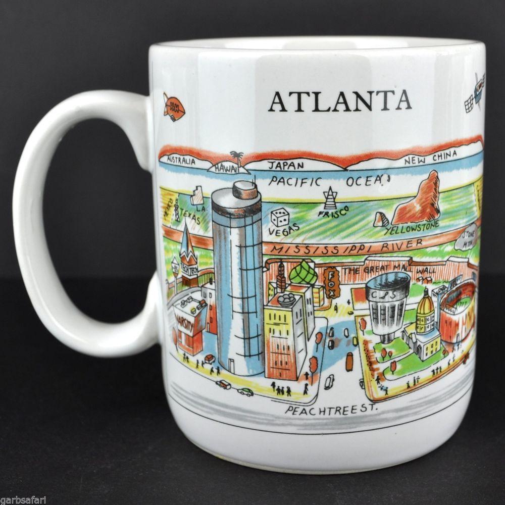 Atlanta Harvey Hutter A View of the World Coffee Mug Tea Cup Korea CityMugs