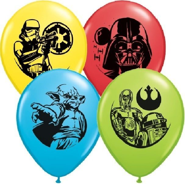 "New Star Wars 22/"" Qualatex BUBBLE Balloons Birthday Party Supplies Decorations~"