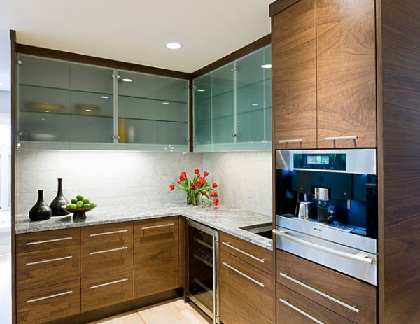 20 Beautiful Kitchen Cabinet Designs With Glass Glass Kitchen