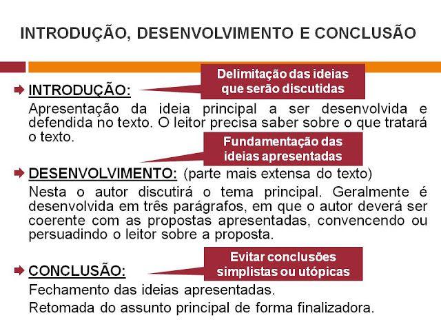 Exemplo de texto com introdução desenvolvimento e conclusão