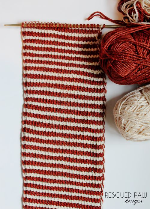 Tunisian Crochet FREE Cowl Pattern by Rescued Paw Designs