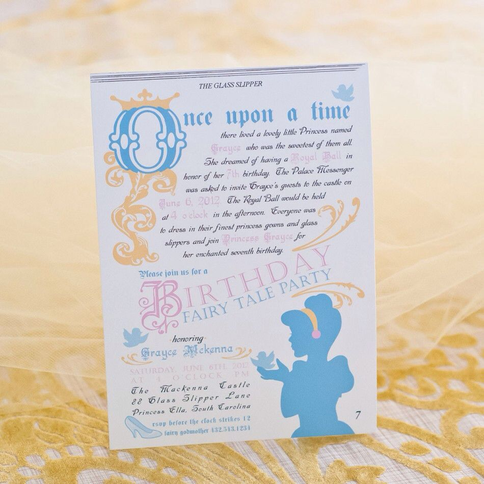 Vintage cinderella party ideas vintage cinderella party this is soo the theme for khloes fairy tale princess printable invitation monicamarmolfo Gallery